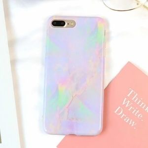 NEW iPhone 7+/8+ Pastel Marble Case